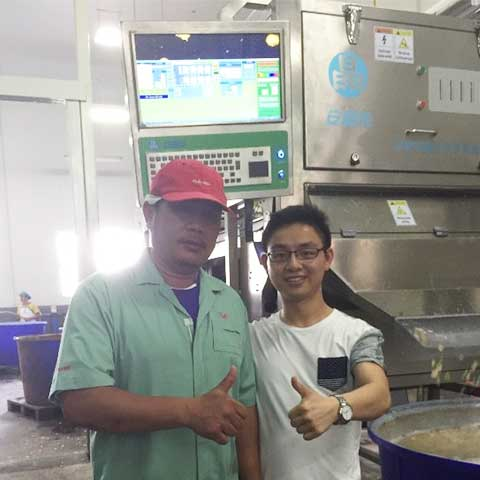 Angelon Nuts Color Sorter in Thailand - a Famous Snacks Company